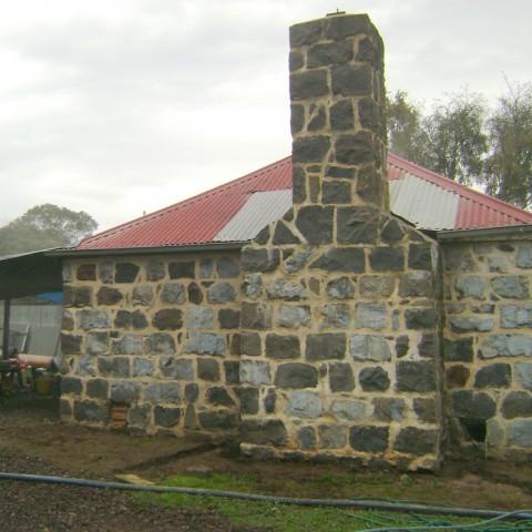 Abrasive sandblasting of brickwork - before