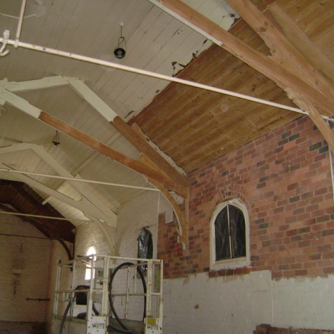 Indoor abrasive blasting - before