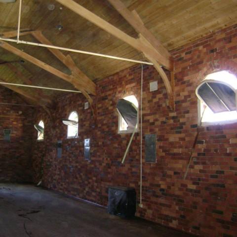 Indoor abrasive blasting - after