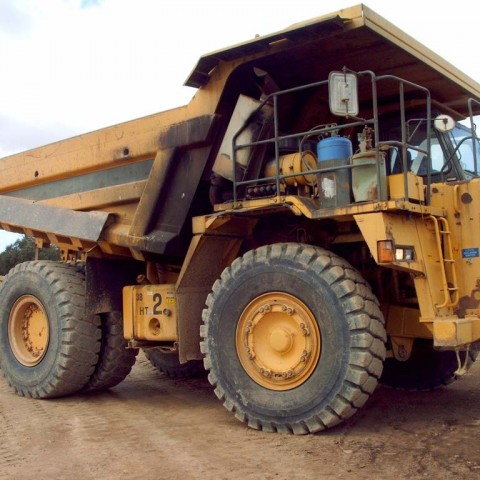 Mining machinery blasting job