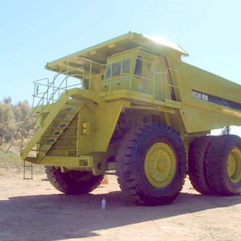 Mining machinery spray painting job