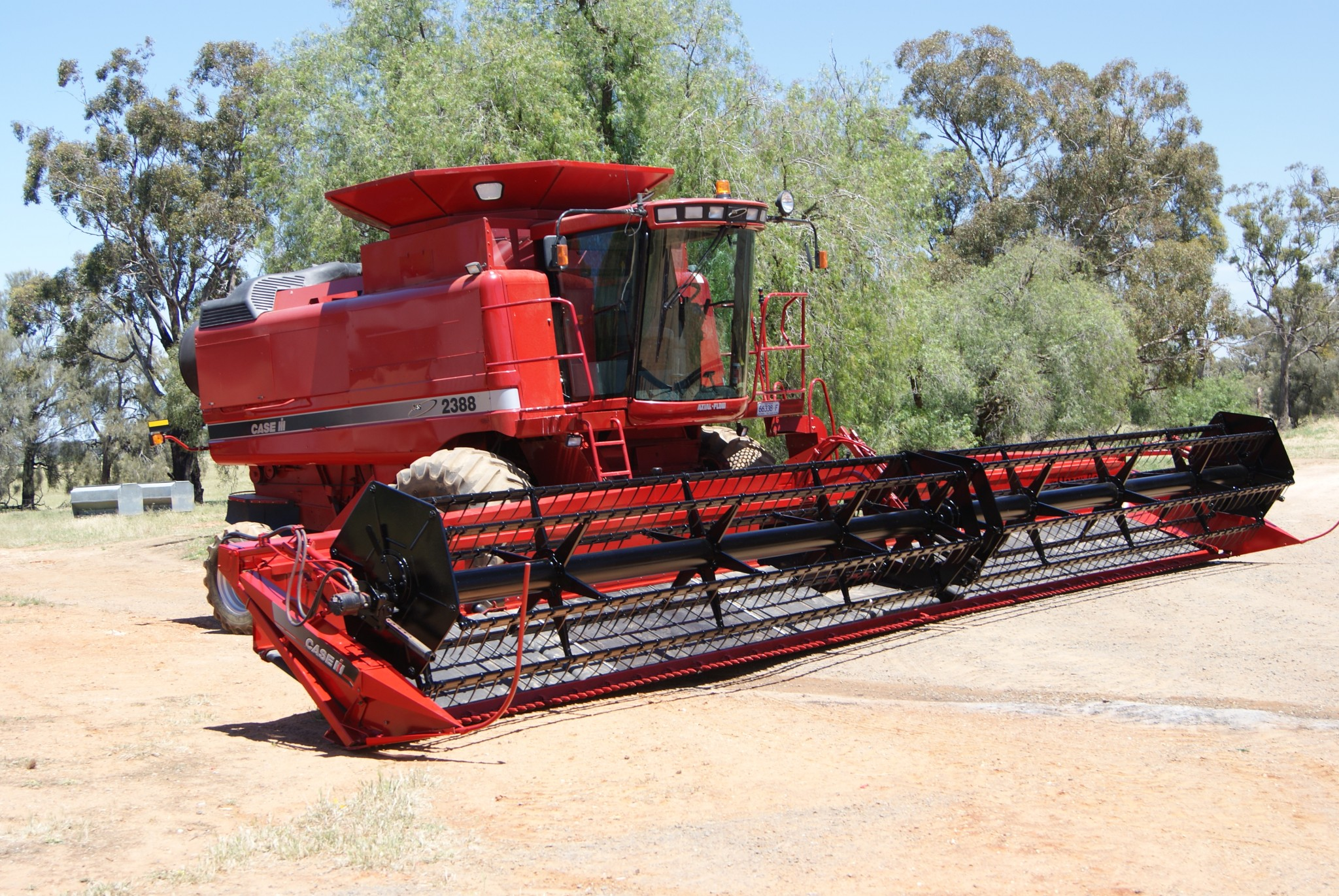 Sandblasted and spray painted harvester Southern NSW